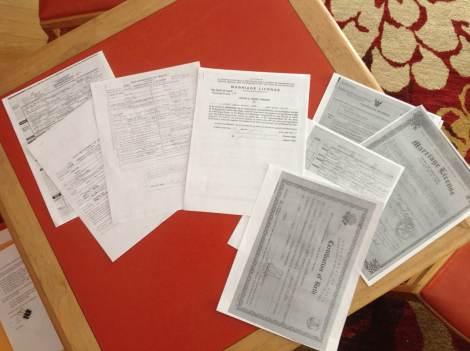 paperwork for DAR
